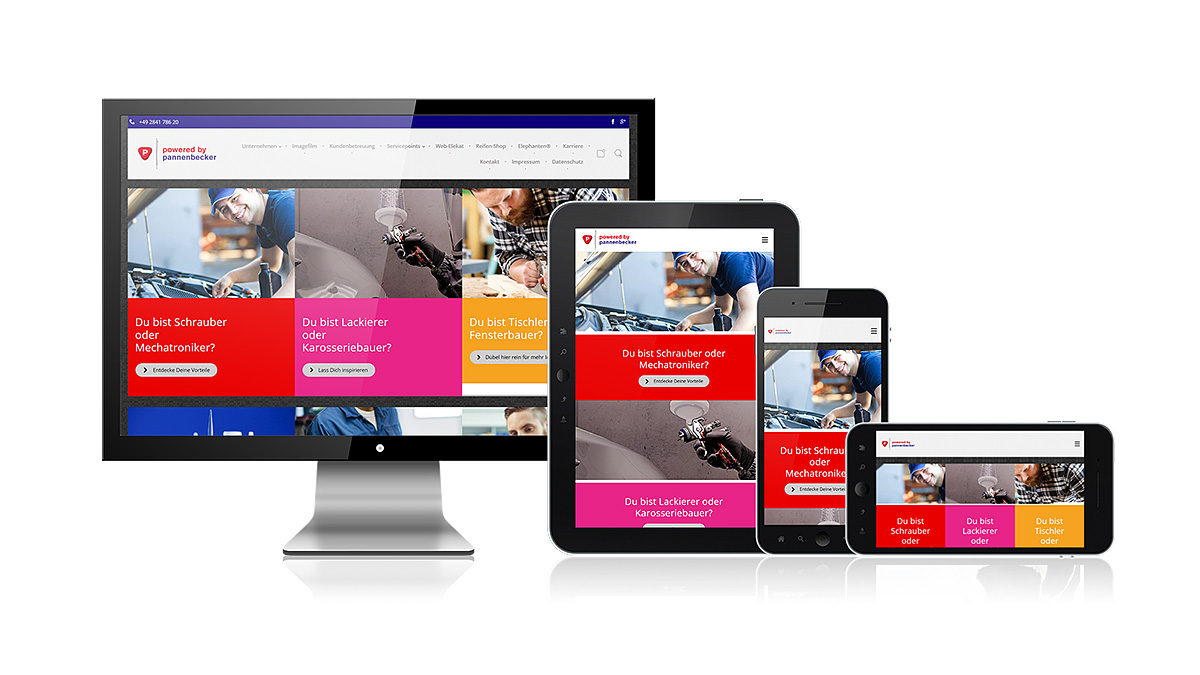 Pannenbecker Website im responsiven Design